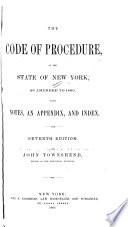 The Code of Procedure, of the State of New York