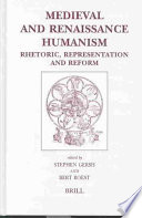 Medieval and Renaissance Humanism Book