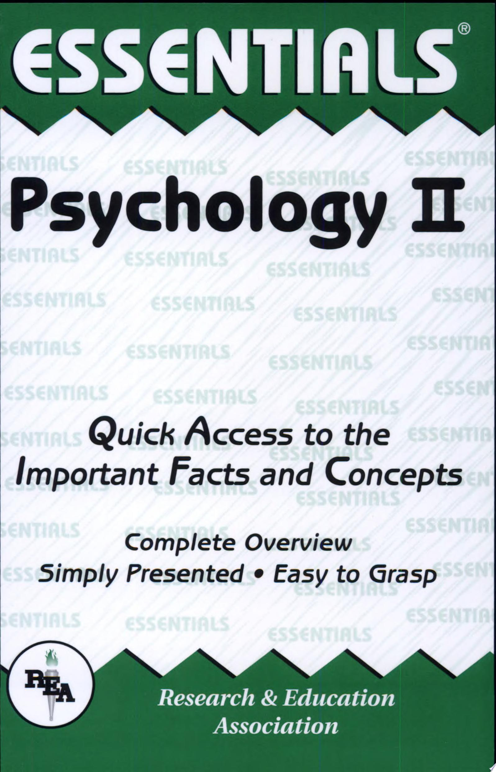 Psychology II Essentials