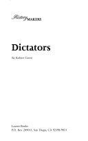 Dictators Book PDF
