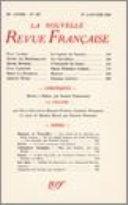 La Nouvelle Revue Française N' 323 (Janvier 1941)