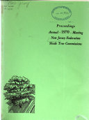 Proceedings  Annual Meeting of the New Jersey Federation of Shade Tree Commissions