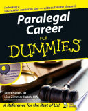 """Paralegal Career For Dummies"" by Scott A. Hatch, Lisa Zimmer Hatch"