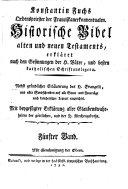 Historische Bibel alten und neuen Testaments