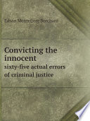 Convicting the innocent Book