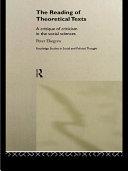 The Reading of Theoretical Texts Pdf/ePub eBook