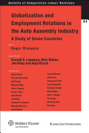 Globalization and Employment Relations in the Auto Assembly Industry