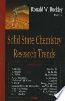 Solid State Chemistry Research Trends Book PDF