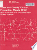 State and county veteran population, March 31, 1983