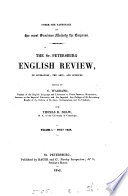 The St. Petersburg English Review, of Literature, the Arts, and Sciences