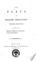 The Plays of William Shakspeare. ..