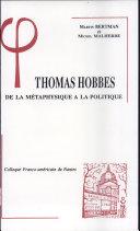 Thomas Hobbes de la métaphysique à la politique
