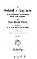 """""""Die"""" Geschichte Englands von der Thronbesteigung Jakob II. bis zum Vertrag von Ryswick"""