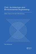 Civil, Architecture and Environmental Engineering: Proceedings of ...