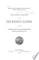 Catalogue of the State Museum of California