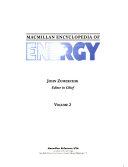 Macmillan Encyclopedia of Energy Book