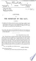 Letter of the Secretary of the Navy