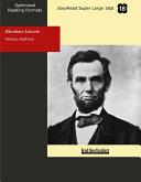 Abraham Lincoln  EasyRead Super Large 18pt Edition