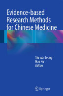Evidence-based Research Methods for Chinese Medicine