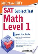 McGraw Hill s SAT Subject Test  Math Level 1  2 E Book
