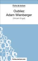 Oubliez Adam Wienberger ebook