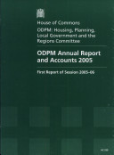 ODPM Annual Report and Accounts 2005