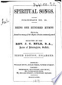 Spiritual Songs     Tenth edition  enlarged