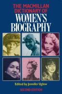 Pdf Macmillan Dictionary of Women's Biography Telecharger