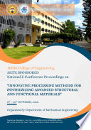 Innovative Processing Methods For Synthesizing Advanced Structural And Functional Materials