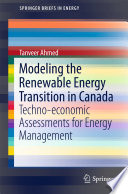 Modeling the Renewable Energy Transition in Canada