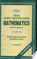 Allied Cbse Sample Question Papers Mathematics For Class Xii