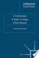 A Commentary To Kant S Critique Of Pure Reason