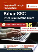 BSSC Inter Level Mains Exam Preparation Book   16 Mock Tests  Solved   8 Paper I   8 Paper II    Complete Practice Kit for Bihar Staff Selection Commission  Bihar SSC    Latest Edition By EduGorilla