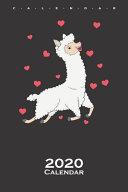 Llama in Love with Hearts Calendar 2020