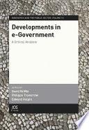 Developments in E-government