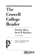 The Crowell College Reader Book PDF