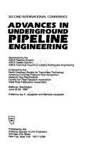 Advances In Underground Pipeline Engineering Book PDF
