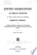 Epicteti Dissertationes Ab Arriano Digestae
