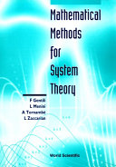 Mathematical Methods For System Theory