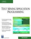 Text Mining Application Programming Book PDF