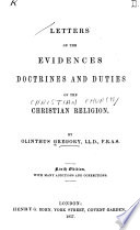 Letters on the Evidences  Doctrines and Duties of the Christian Religion