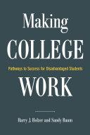 Making College Work Pdf/ePub eBook