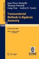 Transcendental Methods in Algebraic Geometry