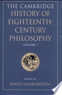 Read Online The Cambridge History of Eighteenth-century Philosophy For Free