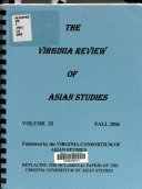 The Virginia Review of Asian Studies