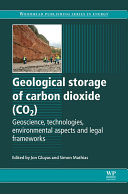 Geological Storage of Carbon Dioxide  CO2