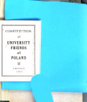 Constitution of University Friends of Poland