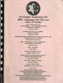 Sovereignty Symposium 2002