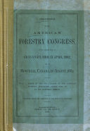 Proceedings of the American Forestry Congress
