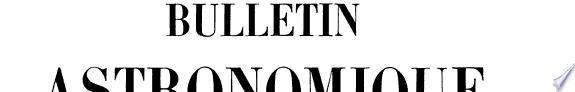 Bulletin astronomique